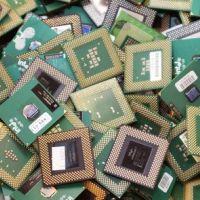 بازیافت ضایعات الکترونیکی ، ضایعات رایانه cpu  عکس رادیولوژی