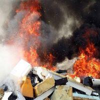 کارگاه بازیافت در مشهد، دچار حریق شد